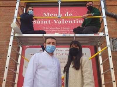Toulouse : pour la Saint-Valentin, le Bibent affiche vos plus belles déclarations d'amour sur sa façade