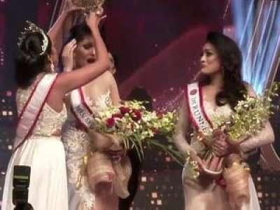 VIDEO. Miss Monde arrêtée pour avoir arraché la couronne de Miss Sri Lanka