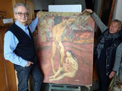 INFO LA DEPECHE. Lot : sous une autre toile, un antiquaire de Cahors découvre une œuvre cachée !