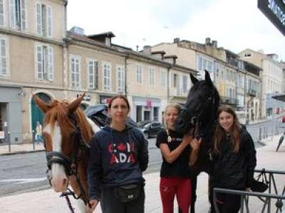 À cheval dans les rues d'Auch