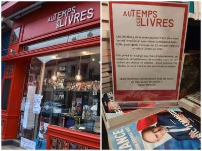 Cette librairie de Sully-sur-Loire vend le livre de Zemmour... et reverse les recettes à une association d'aide aux migrants