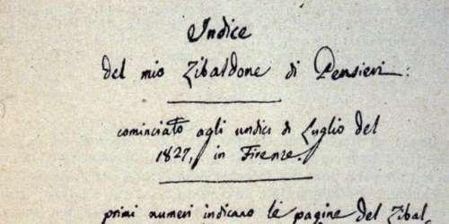 «Zibaldone», de Giacomo Leopardi: un continent littéraire