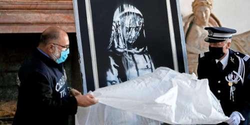 Le parcours rocambolesque du Banksy volé auBataclan, puis retrouvé en Italie