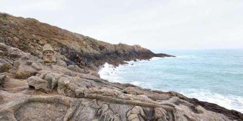 A Saint-Malo, les rochers sculptés de l'abbé Fouré perdent la face