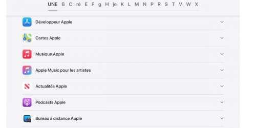 Apple propose une page sur la confidentialité de ses apps