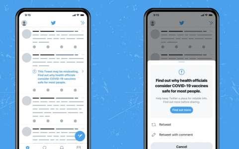 Twitter : les tweets complotistes sur le vaccin Covid-19 vont avoir un message d'alerte