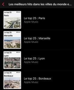 Apple Music : voici les 4 villes françaises qui ont leurs propres classements