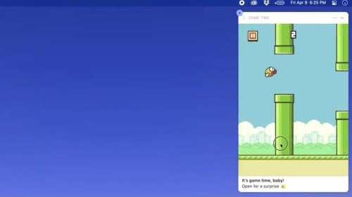 Flappy Bird revient dans les notifications de MacOS Big Sur