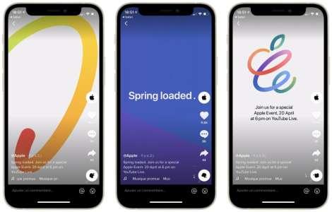 Apple fait la promotion du keynote Spring Loaded sur TikTok
