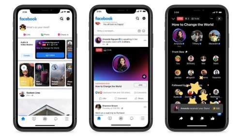 Facebook lance Live Audio Rooms et Podcasts sur iPhone (USA)