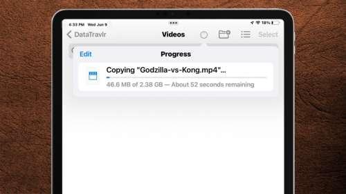 iPadOS 15 peut lire les fichiers NTFS de Windows