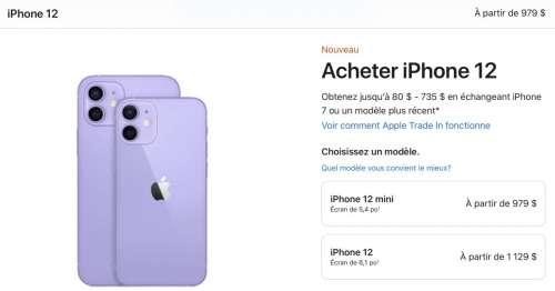 Apple offre un cadeau pour l'achat d'un iPhone 12 mini et iPhone 12 au Canada