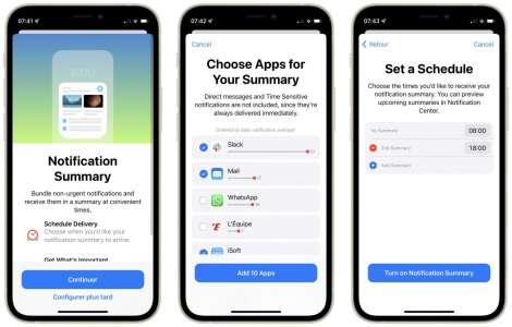 Comment configurer le résumé des notifications sur iOS 15