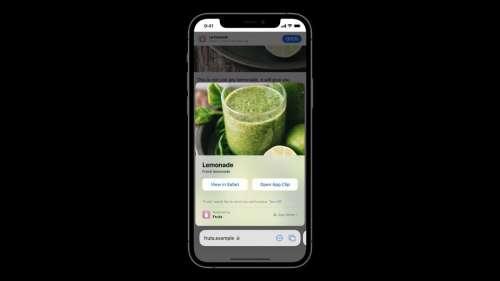 iOS 15 permet d'afficher des App Clips sur Safari