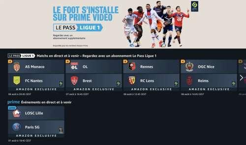 Le Pass Ligue 1 est disponible sur Prime Vidéo avec un essai gratuit de 10 jours
