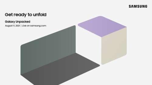 Samsung confirme le keynote Unpacked du 11 août