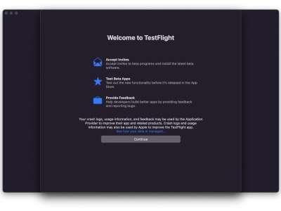 TestFlight pour Mac est disponible en bêta pour les développeurs