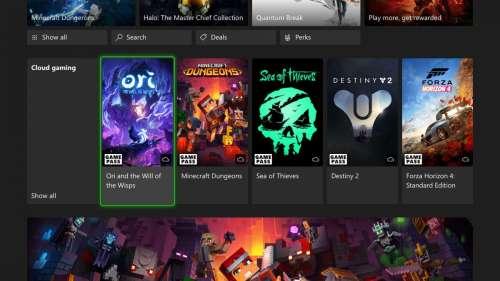 xCloud annoncé sur les consoles Xbox One et Xbox Series X / S
