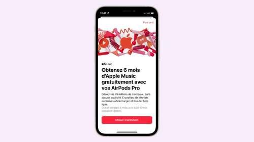 6 mois gratuits sur Apple Music pour l'achat de AirPods ou Beats