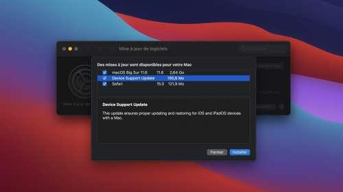 MacOS 11.6 corrige la mise à jour et la restauration d'iPhone et d'iPad