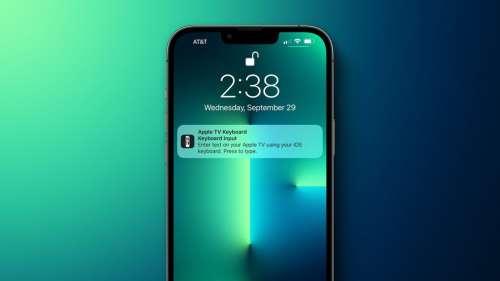 iOS 15.1 : le retour de la possibilité de bloquer la notification du clavier de tvOS