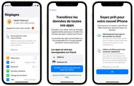 Apple prépare ceux qui ont précommandé l'iPhone 13 au transfert iCloud