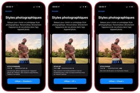 Comment utiliser les Styles de l'appareil photo des iPhone 13