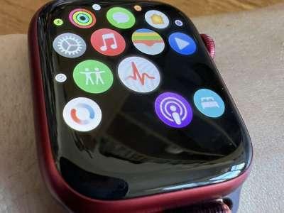 Un problème d'icône transparente sur Apple Watch 7
