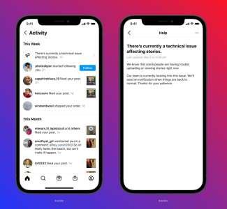 Instagram est en train de tester des alertes de panne pour prévenir les utilisateurs