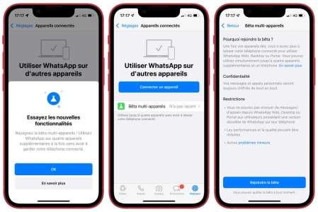WhatsApp prendra bientôt en charge l'iPad et un second téléphone (màj)