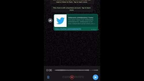 WhatsApp travaille sur l'arrivée de pauses lors de l'enregistrement d'un message vocal