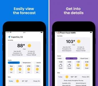 Les nouvelles applications : Rise Weather, Cibo, Superfan Games