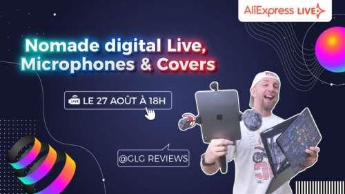 Présentation des Microphones Boya et Cover Macbook pro, un live Nomade Digital By GLG