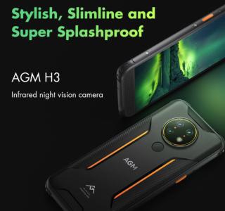 AGM H3, la marque est de retour avec un smartphone robuste 5,7″,vision nuit, 5400mAh, android 11 pour moins de 135$