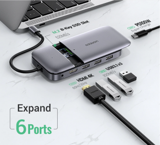 HUB USB type-c Mac M1 avec SSD M.2, USB 3.1, HDMI et Power delivery 100W MacBook,Imac et Ipad