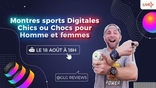 5 Montres Sports Digitales Chics et Chocs pour Homme et Femmes en Live aliexpress le 18 Aout