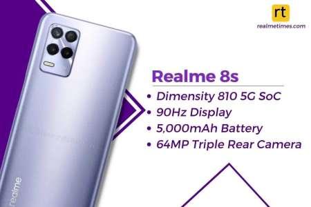 Un Realme 8S présenté en Inde, une version sport du Realme 8 avec Dimensity 810?
