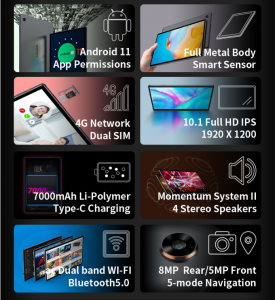 Teclast M40 pro, une tablette 10,1″ 4G FHD, 6GB+128Gb Octa-core sous Android 11 à prix irresistible