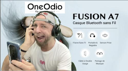 Un Casque Bluetooth Studio monitoring DJ Fusion à double entrée à 39,99€  – OneOdio A70