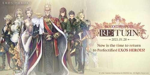 Exos Heroes : la prochaine mise à jour, Blooded Rhapsody, disponible fin janvier