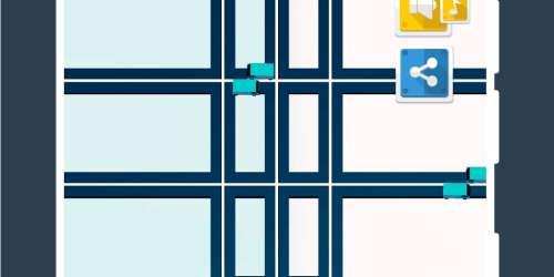 Évitez les accidents de la route dans Don't Crash, disponible sur supports Android