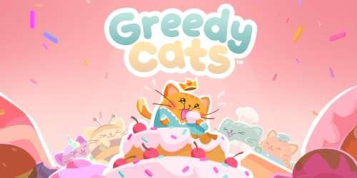 Participez à des concours de gros mangeurs dans Greedy Cats, disponible sur iOS et Android
