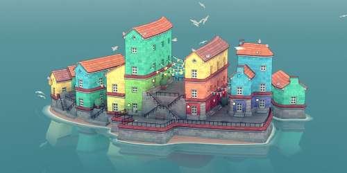 Le city-builder relaxant Townscaper se trouve une fenêtre de sortie sur iOS et Android