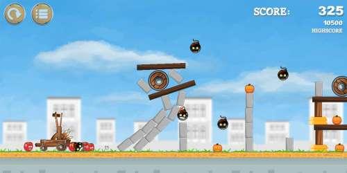 Vous aimez Angry Birds ? Alors essayez Pumpkins knock down, de sortie sur Android