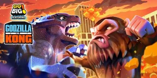 Incarnez Godzilla ou King Kong et détruisez des villes dans Go BIG! Feat. Godzilla vs Kong, de sortie sur mobiles