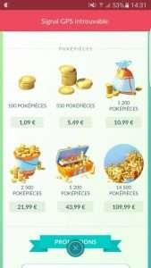 Pokemon GO : Obtenir vos pièces gratuitement !