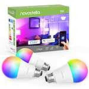 Lot de 3 ampoules LED connectées Novostella - RGB, 9W (équivalent 75W), compatibles Alexa & Google Home (Vendeur tiers)