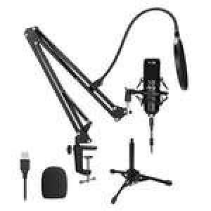 Kit Microphone USB à condensateur Agptek Podcast Studio avec support bras pliable + accessoires (Vendeur Tiers)