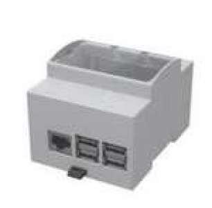 Boîtier pour Raspberry PI 1b+/2/3 sur Rail DIN (limpulsion.fr)