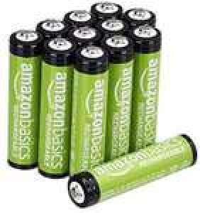 Lot de 12 piles rechargeables AAA Amazon Basics - 800 mAh